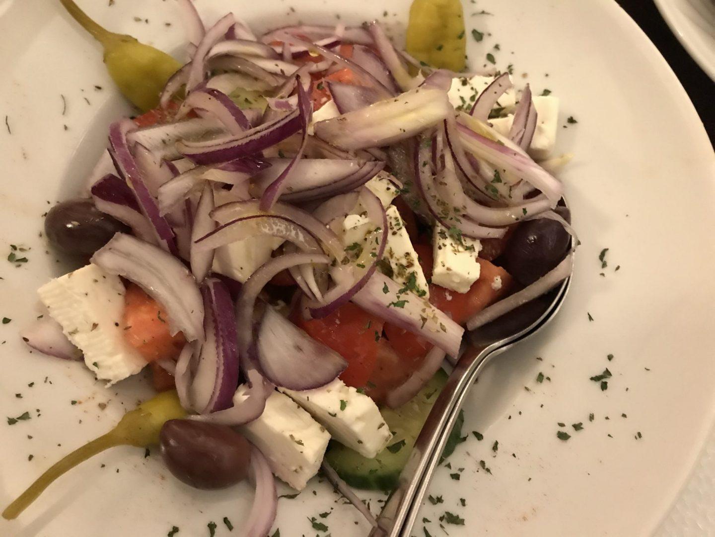 Griechischer Bauernsalat Erfahrung Vorspeise Ouzos Herne Foodblog Sternestulle