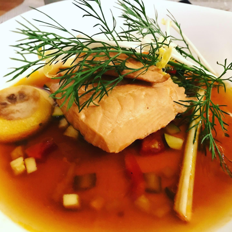 Asiatischer Lachs Menü Steffens Herrnmühle Foodblog Sternestulle