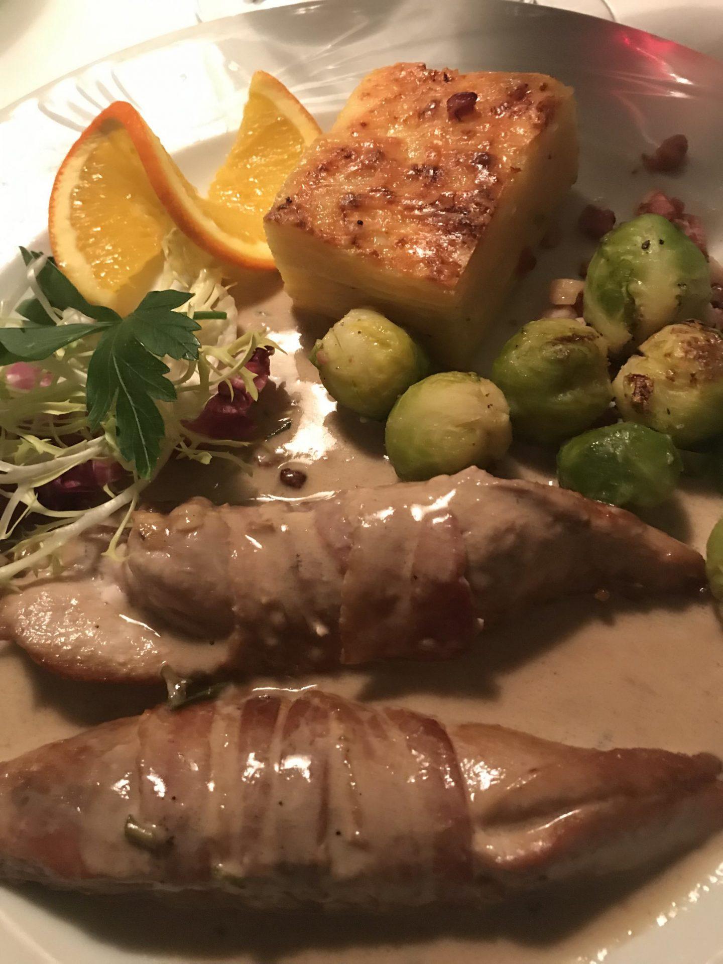 Fasan Speck Rosmarin Schlemmer-Menü Elsässer Stube Herne Foodblog Sternestulle
