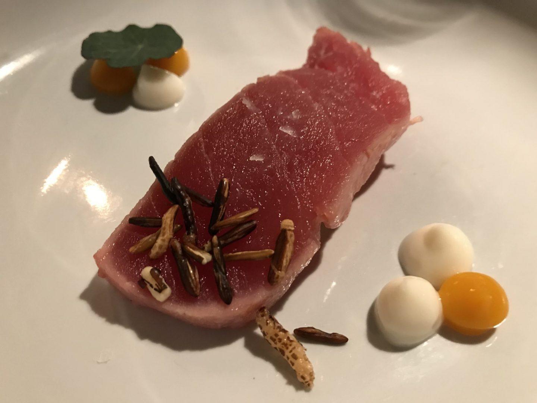 Gruß der Küche Tunfisch Thunfisch Erfahrung Menü Restaurant Hannappel Essen Foodblog Sternestulle