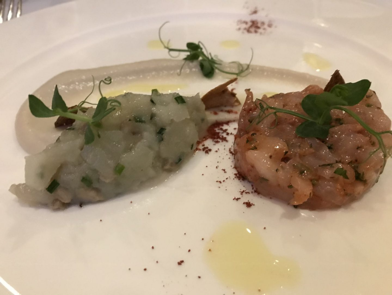 Tatar Rotgarnele Tompinambur Erfahrung Menükarussell Gute Stube Parkhotel Herne Foodblog Sternestulle