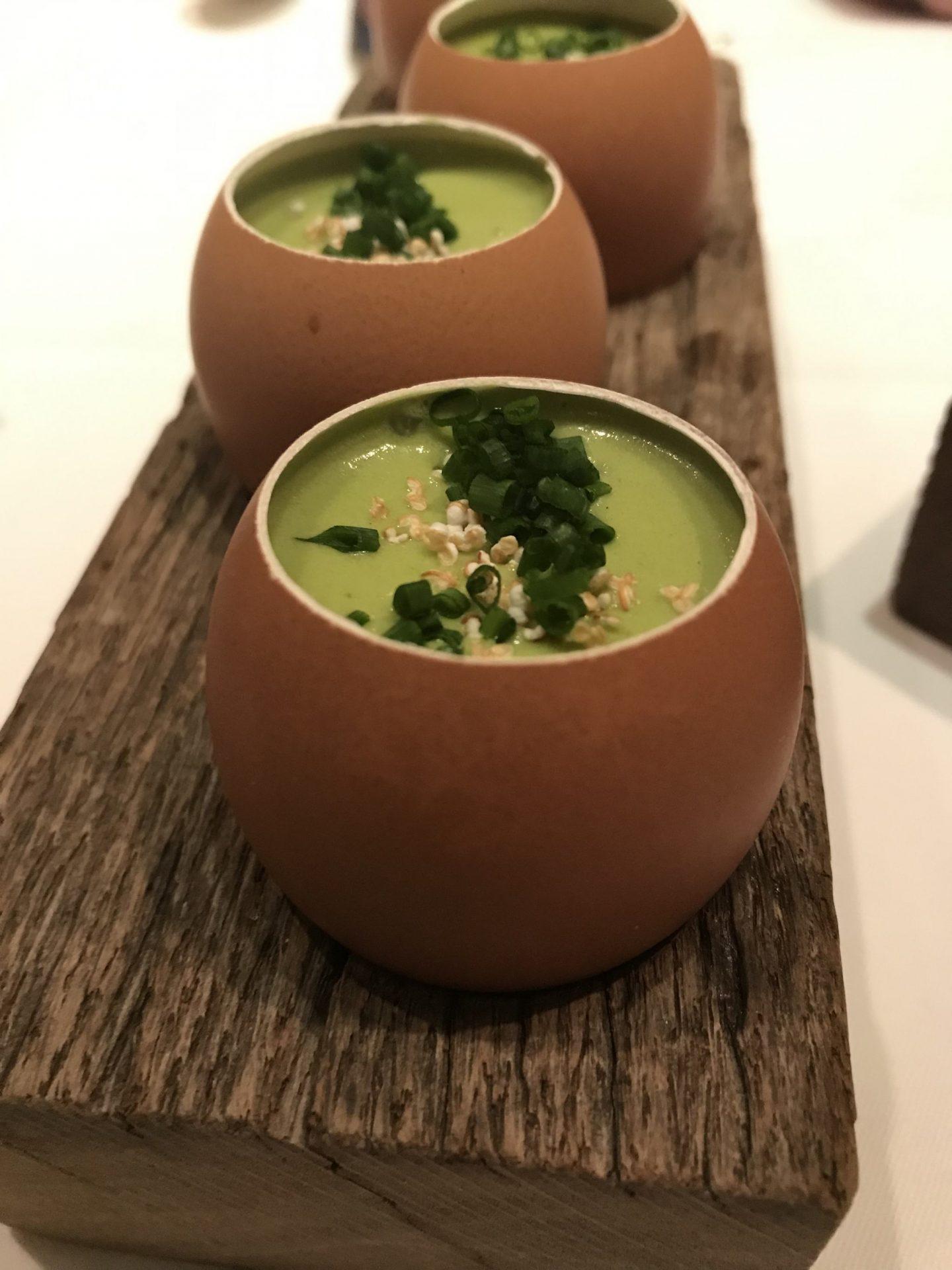 Gruß der Küche Gefülltes Ei Tapioka Erfahrung Wilbrand Post Odenthal Foodblog Sternestulle
