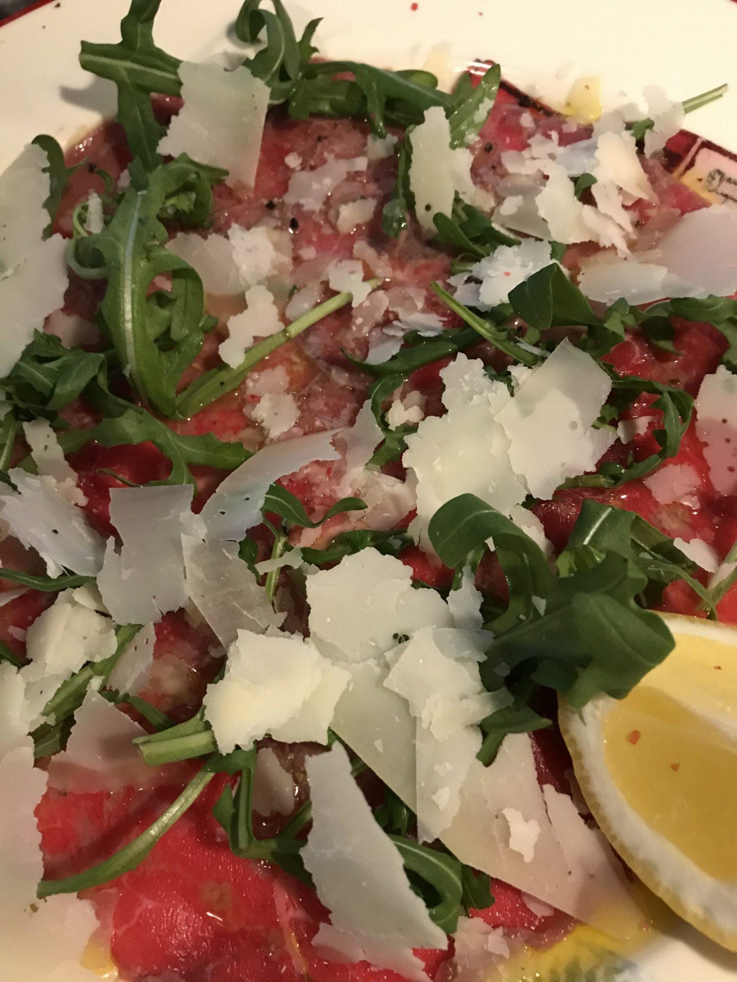 Carpaccio Erfahrung Trattoria Villa Conte Herne Foodblog Sternestulle