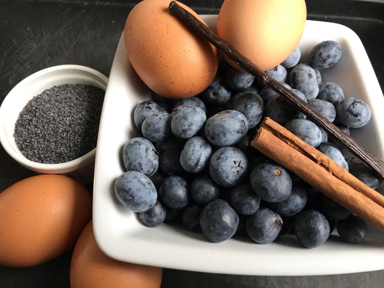 Mohnschmarrn Kaiserschmarrn mit Heidelbeeren und Vanilleeis Rezept Rezeptidee Foodblog Sternestulle