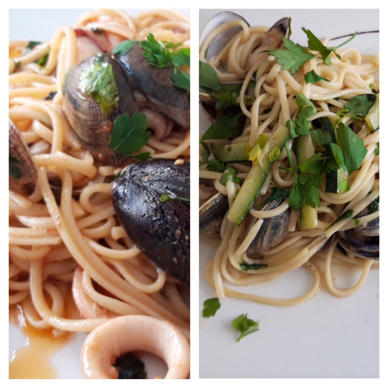 Erfahrung Kritik Bewertung Spaghetti mit Meeresfrüchten Restaurant Almare Ciutat Jardi Palma de Mallorca Foodblog Sternestulle