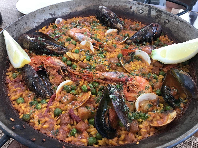 Erfahrung Bewertung Kritik Foodblog Sternestulle Paella mit Meeresfrüchten Restaurant Balear Port de Soller Mallorca