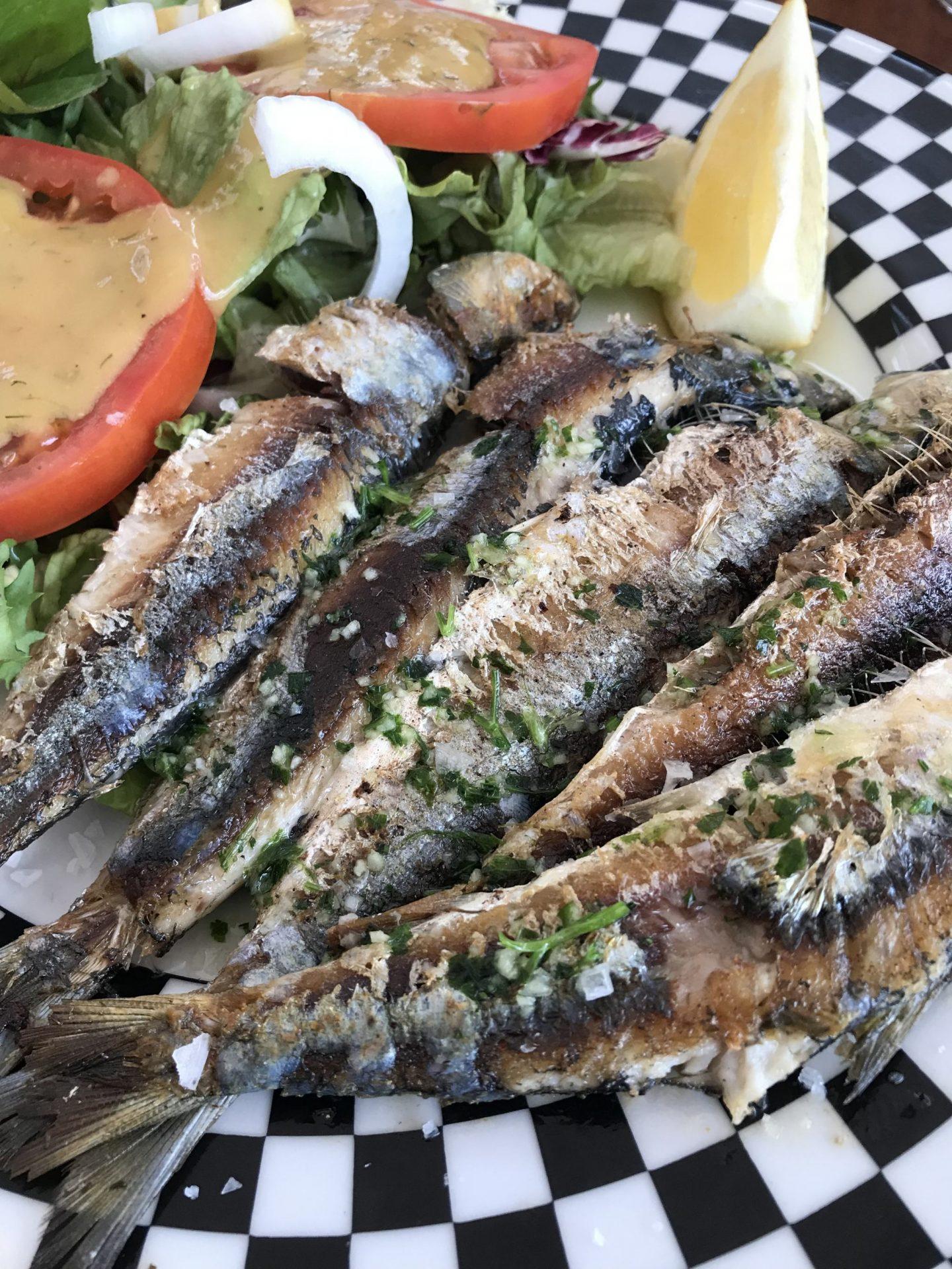 Erfahrung Bewertung Kritik Foodblog Sternestulle Sardinen vom Grill Restaurant Balear Port de Soller Mallorca