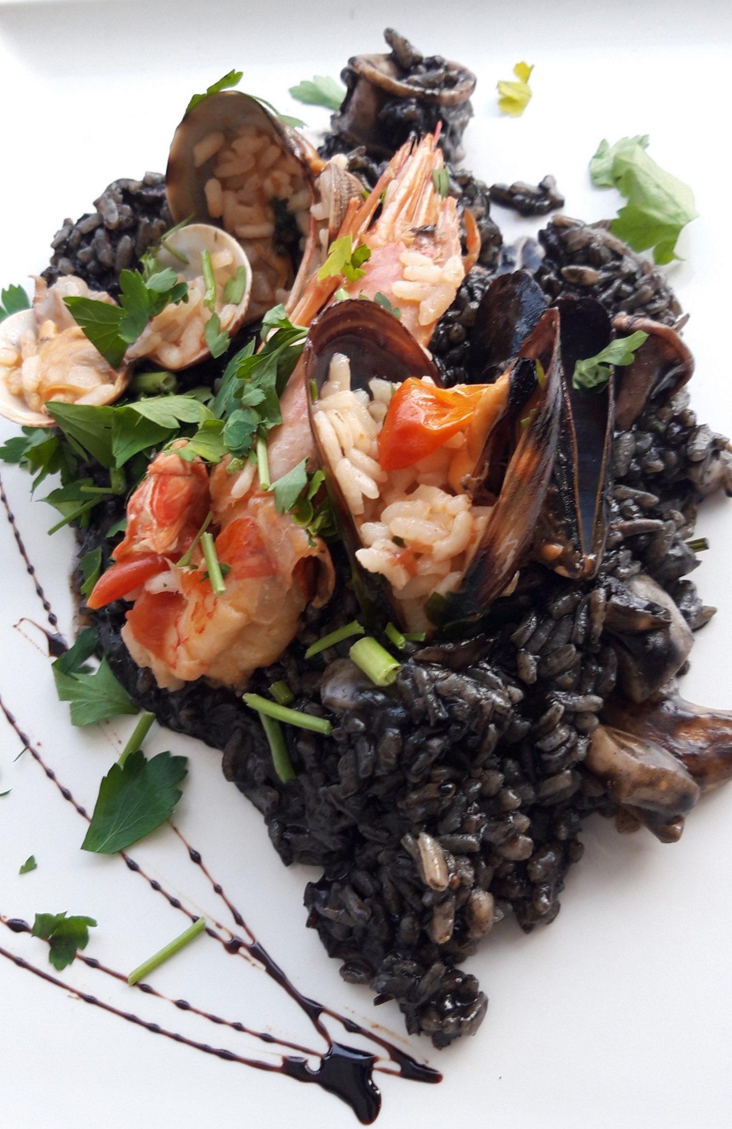 Erfahrung Kritik Bewertung Risotto Nero Restaurant Almare Ciutat Jardi Palma de Mallorca Foodblog Sternestulle