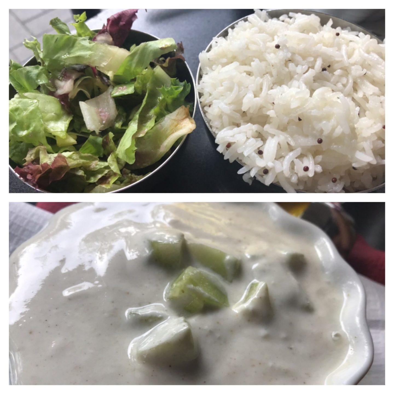 Erfahrung Bewertung Kritik Taj Mahal Bochum Beilage Reis Salat Raita Foodblog Sternestulle