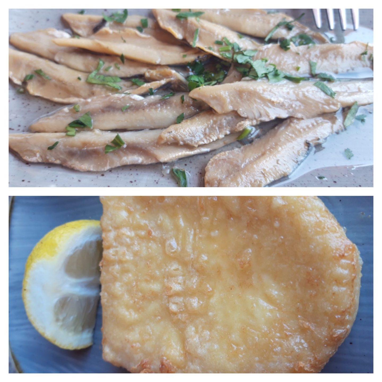 Bewertung Erfahrung Kritik gegrillter Käse Boquerones Sardellen Meltemi Cafe Restaurant Rhodos Stadt Foodblog Sternestulle