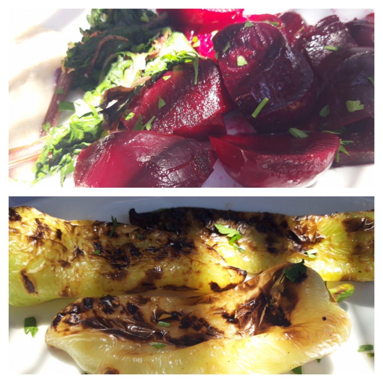 Erfahrung Bewertung Kritik Joannas Nikos Place Mykonos Rote Bete gegrillte Paprika Foodblog Sternestulle