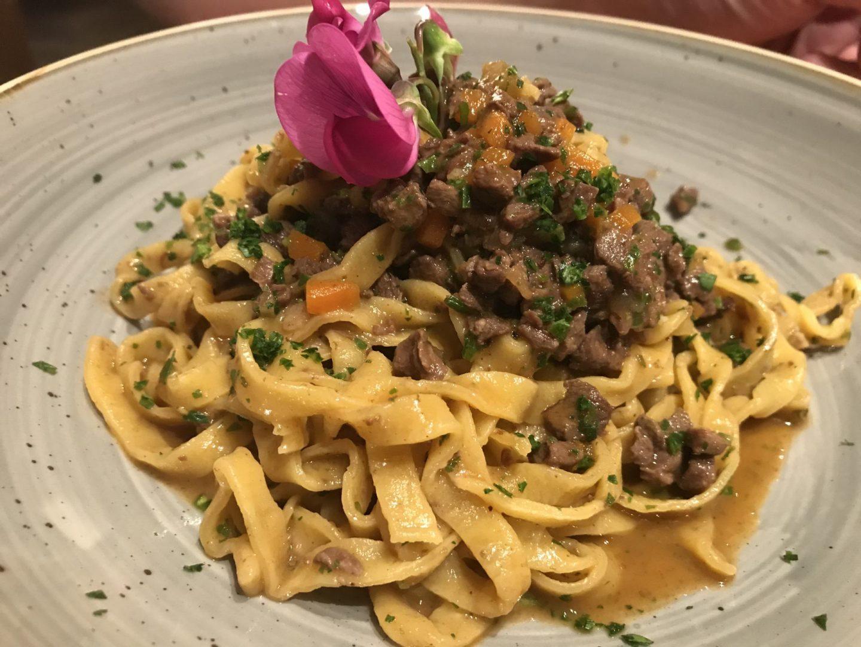 Erfahrung Bewertung Kritik Hotel Restaurant Pardeller Tagliatelle mit Wildragout Welschnofen Südtirol Foodblog Sternestulle