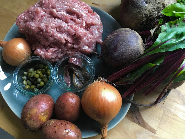 Rezept Rezeptidee Königsberger Klopse mit Rote-Bete-Salat Foodblog Sternestulle