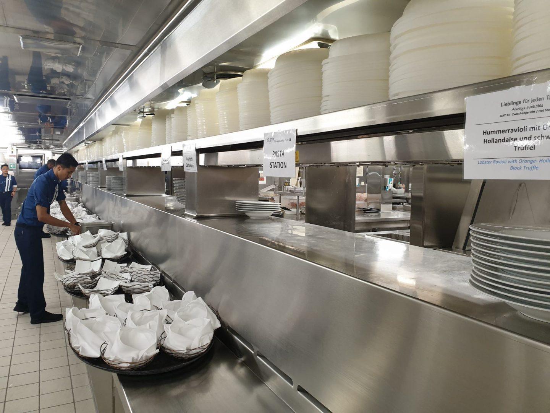 Organisation der Küche Mein Schiff 6 Foodblog Sternestulle