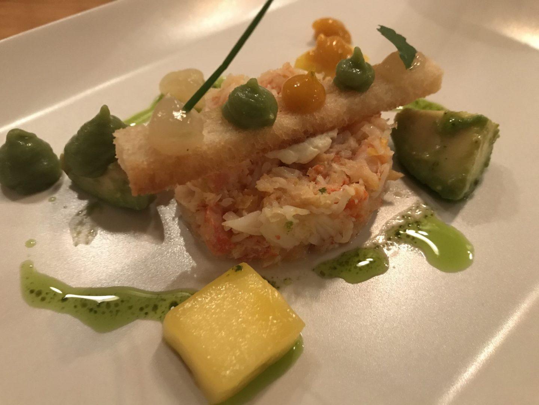 Bewertung Kritik Erfahrung In sieben Gängen um die Welt Weinbergschlösschen Königskrabbe Avocado Mango Foodblog Sternestulle