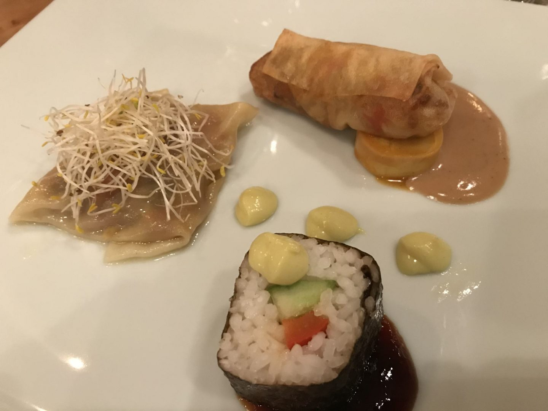 Bewertung Kritik Erfahrung In sieben Gängen um die Welt Weinbergschlösschen Sushi Wan Tan Foodblog Sternestulle