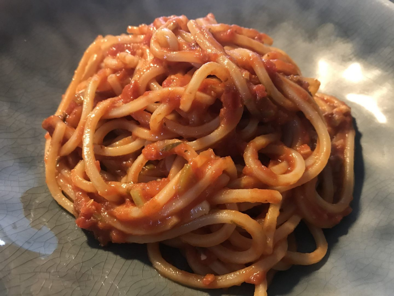 Rezept Rezeptidee Spaghetti Puttanesca Tomatensoße Miso Foodblog Sternestulle