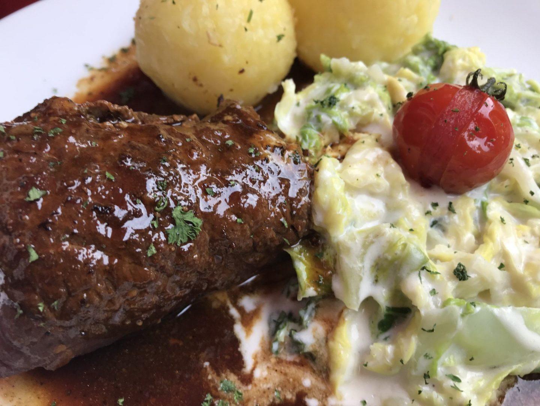 Erfahrung Bewertung Kritik Kromers Restaurant Erfurt Roulade Wirsing Thüringer Klöße Foodblog Sternestulle