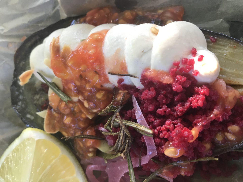 Erfahrung Bewertung Kritik Bachstelze Aubergine Tahina Haya Molcho Foodblog Sternestulle