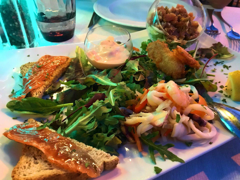 Erfahrung Bewertung Kritik Hotel Brenzone Tagliatelle gemischte Fischvorspeise Foodblog Sternestulle