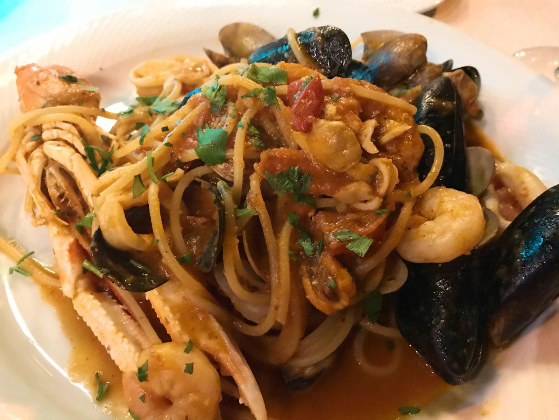 Erfahrung Bewertung Kritik Hotel Brenzone Spaghetti Scoglio Meeresfrüchte Foodblog Sternestulle