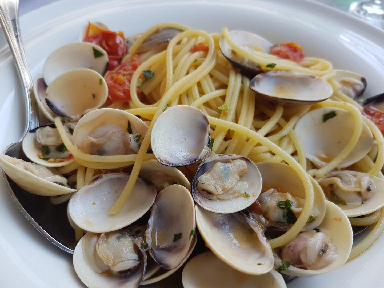 Erfahrung Bewertung Kritik Restaurant Hotel Malcesine Spaghetti Vongole Foodblog Sternestulle