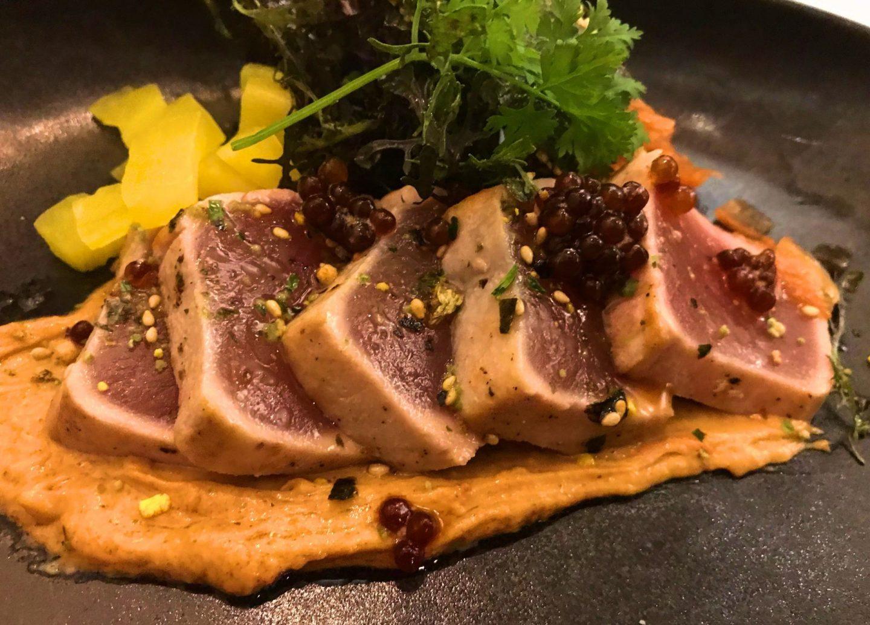 Erfahrung Bewertung Kritik De Boterkapel Domburg Thunfisch Tataki Erdnusscreme Nori-Krokant Foodblog Sternestulle