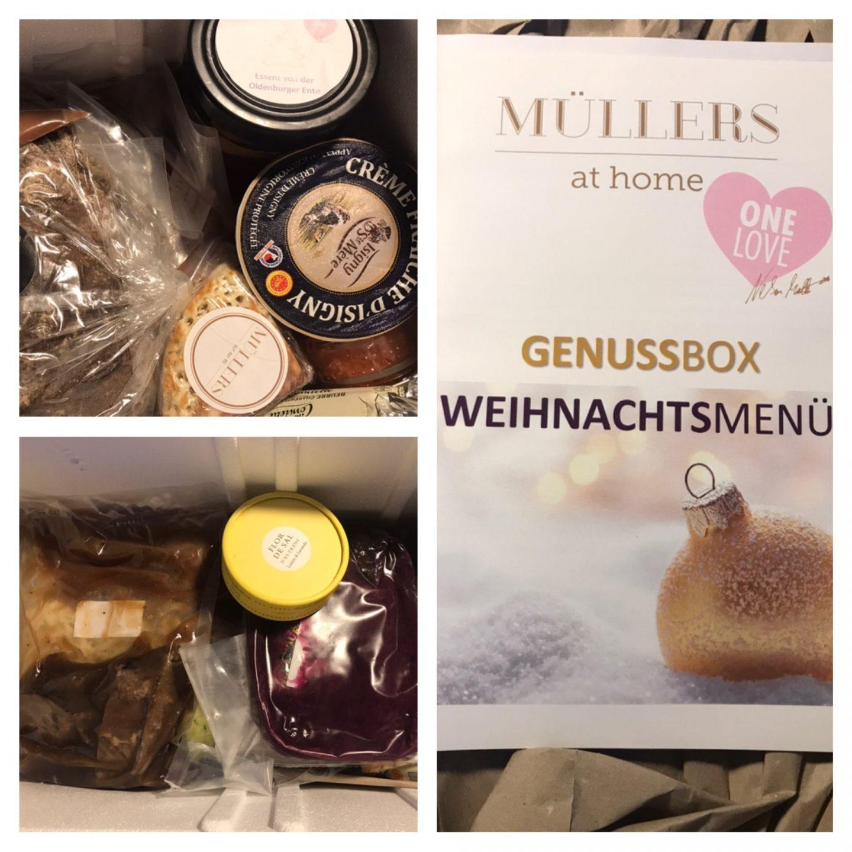Erfahrung Bewertung Kritik Müllers at Home Genussbox Weihnachtsmenü Foodblog Sternestulle