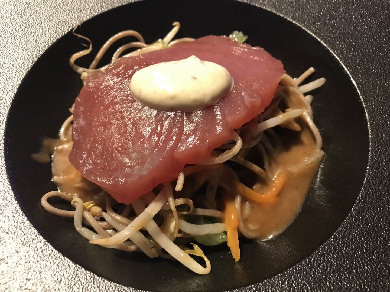Erfahrung Bewertung Kritik Rotisserie du Sommelier Essen Rüttenscheid Soba Thunfisch Foodblog Sternstulle