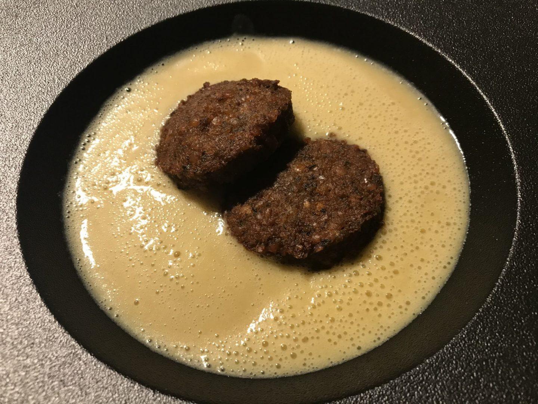 Erfahrung Bewertung Kritik Rotisserie du Sommelier Essen Rüttenscheid Blumenkohlsuppe Linsenfalafel Foodblog Sternstulle