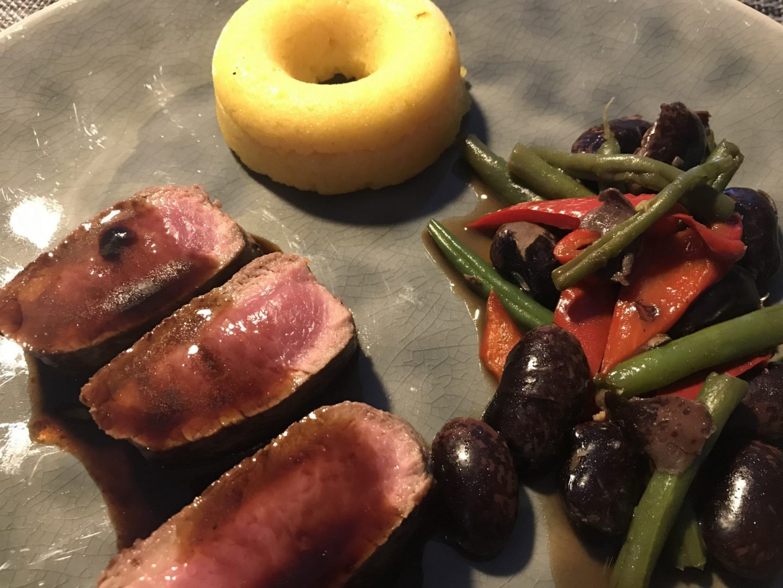 Erfahrung Bewertung Kritik Ostermenü Kulinarik2Go Hannappel Lammrücken Bohnen Polenta Foodblog Sternestulle