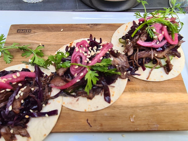Erfahrung Bewertung Kritik B 10 Leipzig Taco mit gezupfter Ente Foodblog Sternestulle