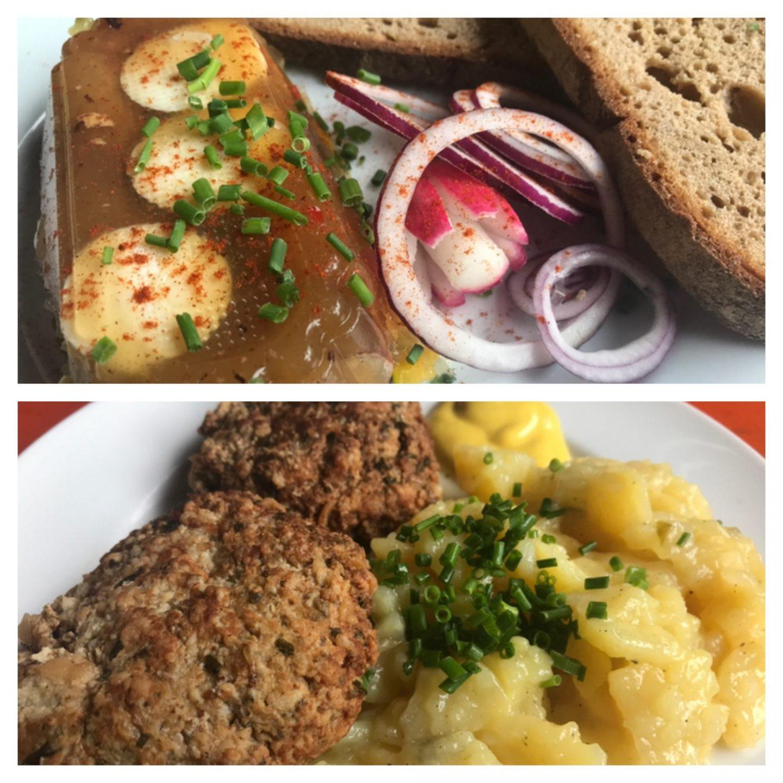 Erfahrung Bewertung Kritik Waldschänke Brückkanal Schwarzach Bratwurstsülze Fleischküchla Kartoffelsalat Foodblog Sternestulle