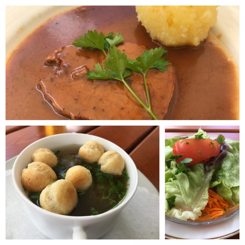Erfahrung Bewertung Kritik Gasthof Zum Hirschen Dettelbach am Main Sauerbraten Suppe Salat Foodblog Sternestulle