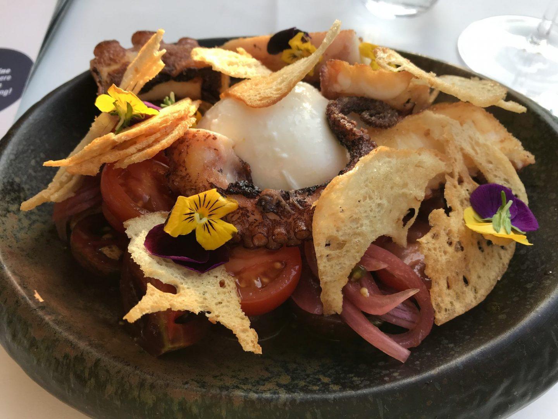 Erfahrung Bewertung Kritik Grammons Weinbar Dortmund Tomatensalat Burrata gegrillter Oktopus Foodblog Sternestulle