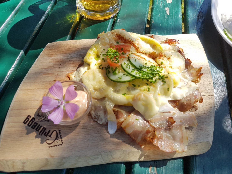 Erfahrung Bewertung Kritik Jausenstation Grünegg Bauerntoast mit Speck Foodblog Sternestulle